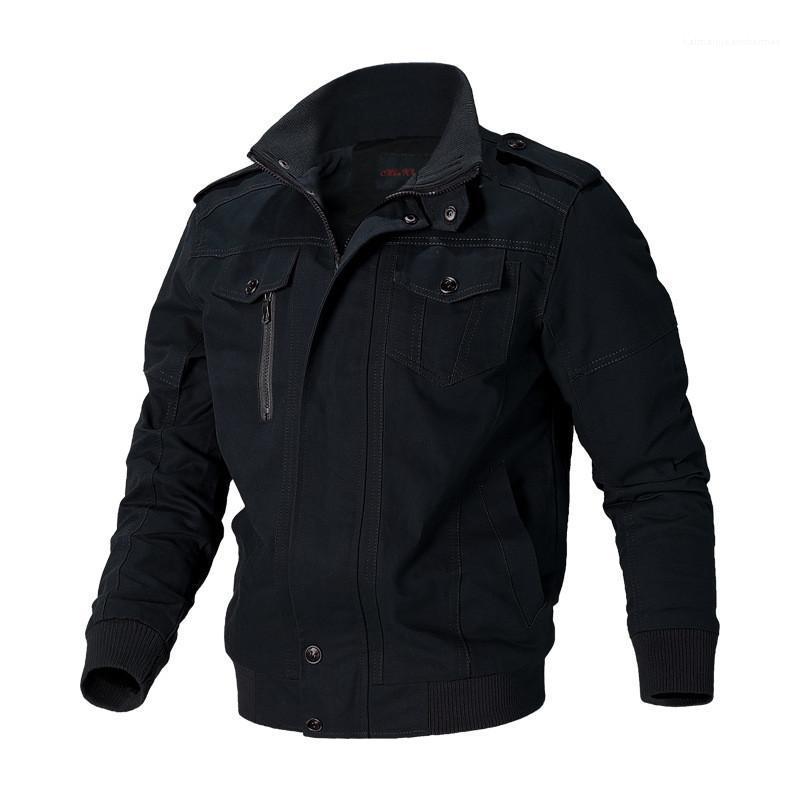 Jacke New Large Size Langarm Revers Stitching Jacke Male Designer-Mantel Mens-beiläufige Gewaschene Military