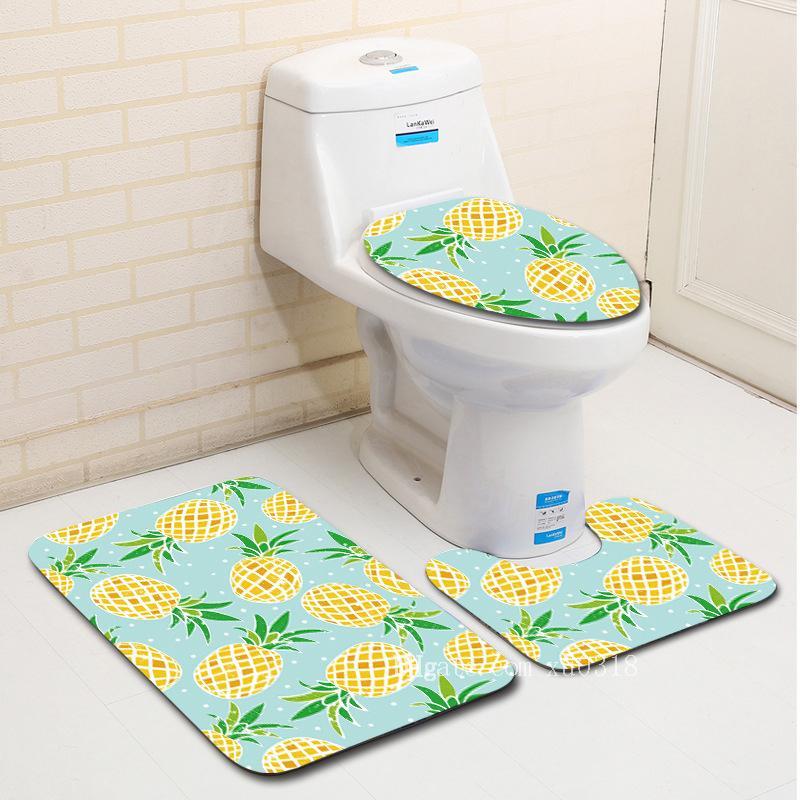 2018 Zeegle Creative 3pcs Bathroom Bath Mat Set Washable Toilet Rug Toilet Lid Cover Anti-Slip Floor Mats Pads Bathroom Accessories