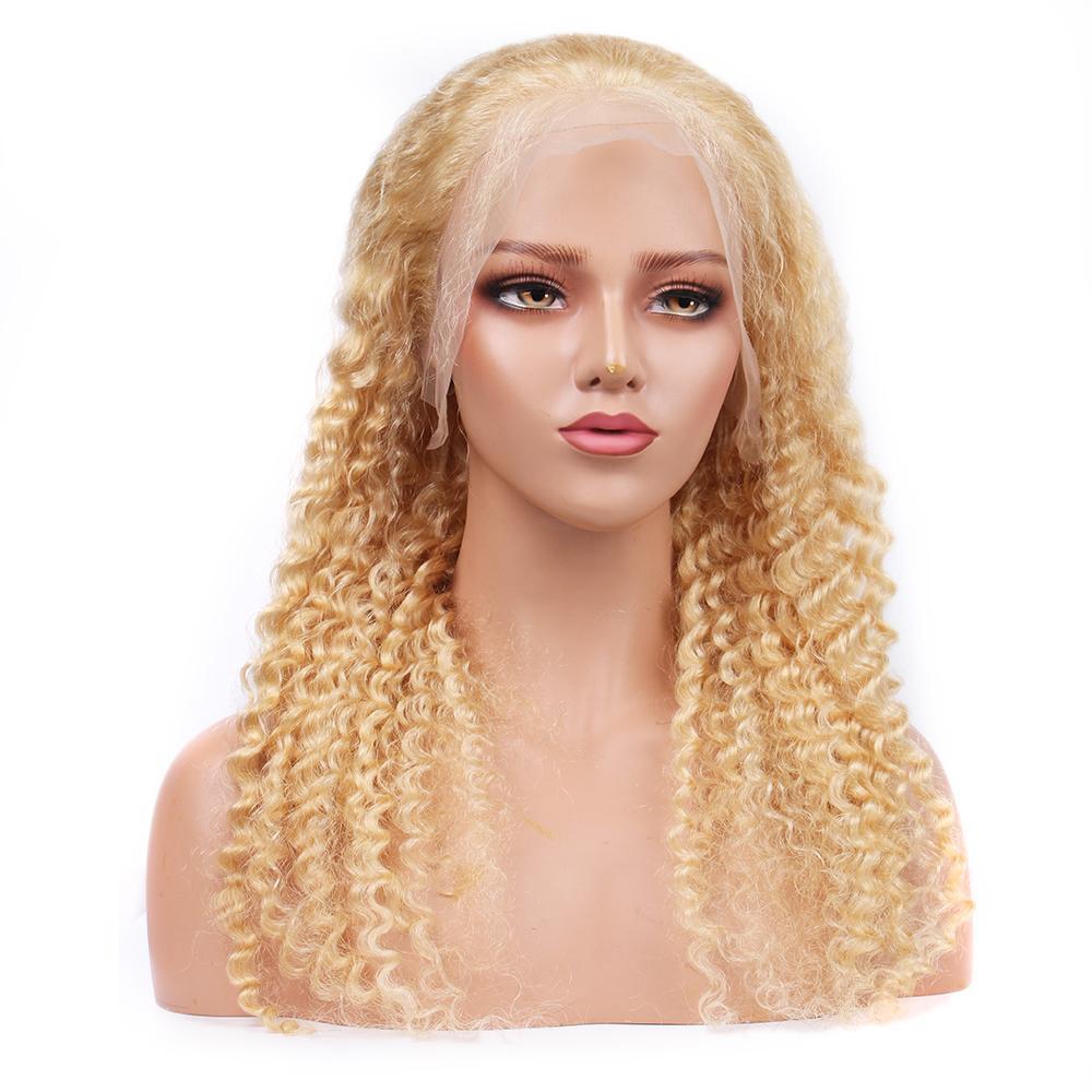 HCDIV 613 الشعر البشري WGIS البرازيلي الخام ريمي موجة عميقة 13 * 4 الدانتيل الجبهة الباروكة ضوء شقراء الباروكة مصنع الجملة سعر DP 63