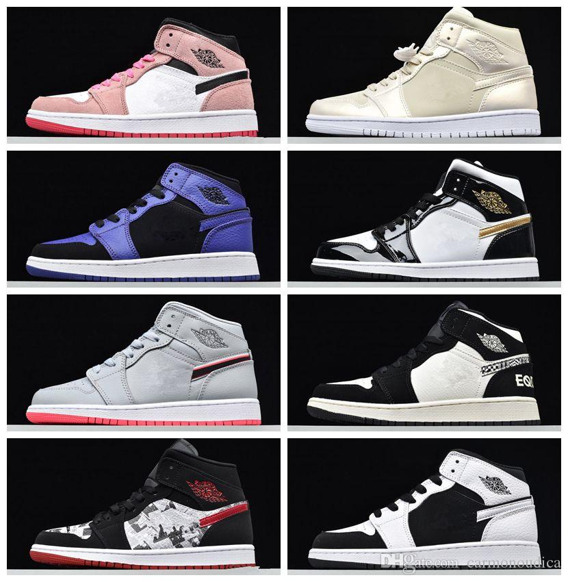 2020 Hot High OG TOP Bred Royal Blue Mid Women Shoes For Men Designeretball Designer Shoes Pale Vanilla Cinnamon Fashion Chaussures Trainers