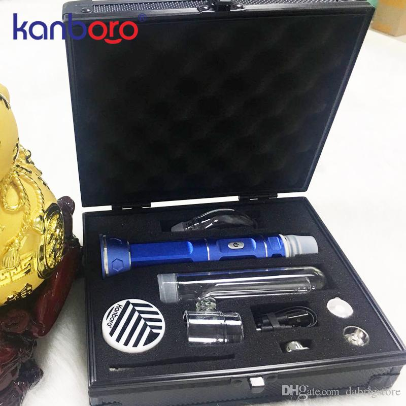 Factory direct Vape dab wax rig device high quality dry herb vaporizer portable wax dab rig pen from Kanboro ecube kit in stock