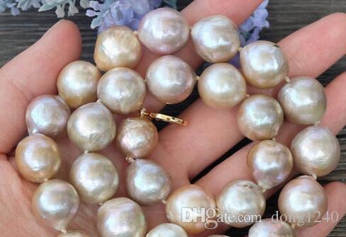 Joyería 005428 16 ~ 12 mm púrpura naturais Edison nucleadas Flameball Barroco colarinho de perlas