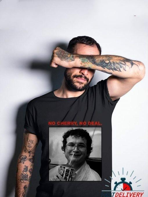 90 informal de algodón Tops Starqueen-JBH Estética Moda Stranger Things impresión Camiseta Sin cereza No Deal camiseta de las mujeres del verano
