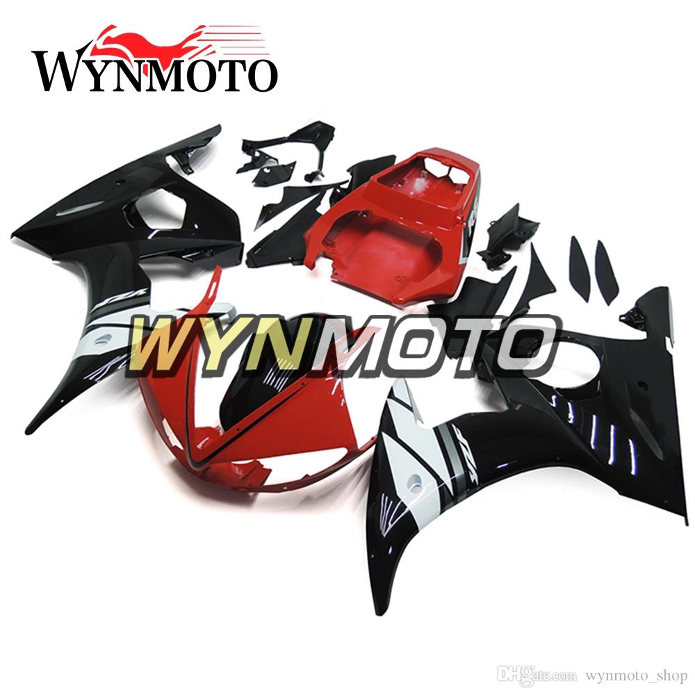 WYNMOTO ABS Injection Red White Black Complete Motorcycle Fairings For Yamaha R6 YZF-R6 2003 2004 Cowlings