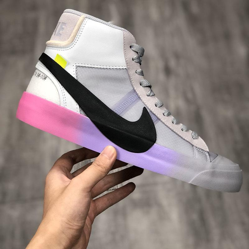 Off White Nike Blazer 1972 Mid Spooky Pack Queen Trainers Virgil Abloh All Hallows Eve Grim Reepers Serena Williams High Laces Women Men Running Shoes Sneakers Board Shoes