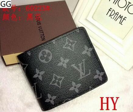 xx2 envío de 2.020 hombres cartera de cuero genuino bolsillo cortos titular de la tarjeta Casual Male monedero de la manera libre de las carpetas para los hombres sin caja FPZ4
