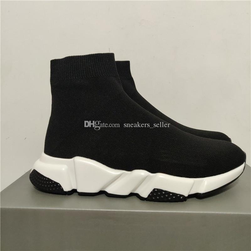 2020 핫 판매 스니커즈 속도 트레이너 블랙 레드 Gypsophila 배 블랙 패션 플랫 양말 부츠 남성 여성 캐주얼 신발 속도 트레이너 러너