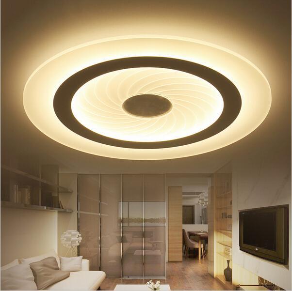 Modern Led Tavan Işık Salon Işıklar Akrilik Dekoratif Abajur Mutfak Lambası Lamparas De Techo Moderne Lambalar