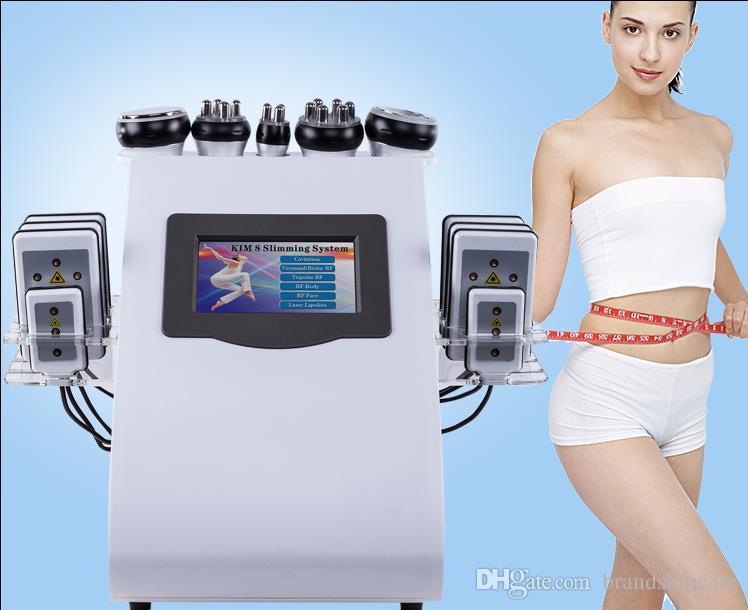 6 in1 ultrasuoni liposuzione KIM8 dimagrante sistema 40K cavitazione multipolare RF vuoto dimagrante macchina Face Lifting Laser Skin dimagrante.