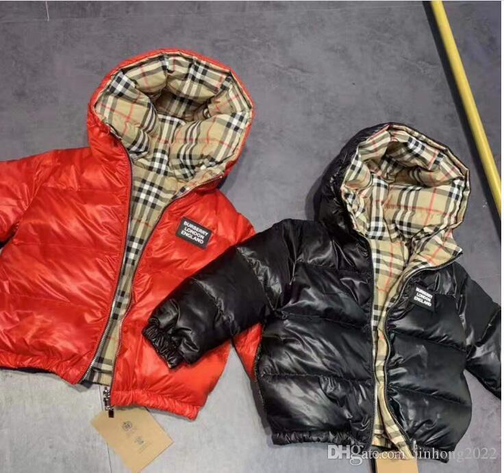 Coat aşağı marka B Kabanlar Kış Sıcak Coat Çocuk Giyim Windproof Kalınlaşmak Boys Kızlar damla nakliye