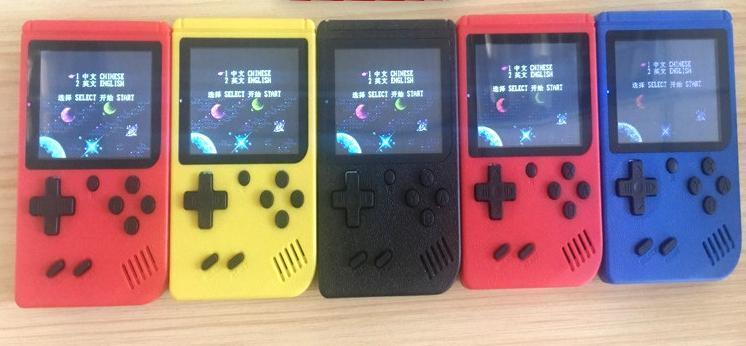 المصغرة المحمولة لعبة وحدة التحكم المحمولة ريترو 8 بت FC نموذج لFC 168 AV GAMES اللون LCD لاعب لعبة لعبة FC