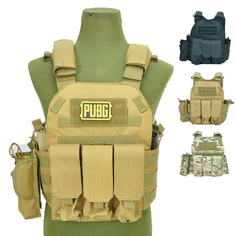 Tactical Vest Various Accessory Kit Molle Vest Army CS Game Combat Gear Outdoor Hunting Clothing Multicam