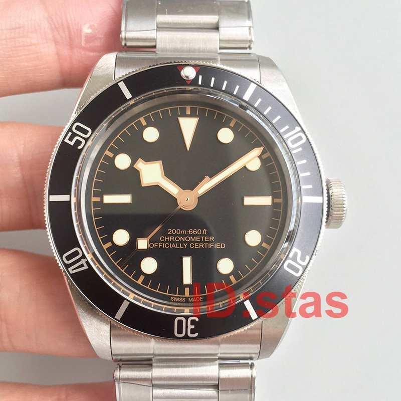 Tudorrr Роскошные мужские часы из нержавеющей стали Автоматическая НАСЛЕДИЕ ЧЕРНЫЙ BAY РОТОР Montres Дизайнерские Мужские часы Механические наручные часы