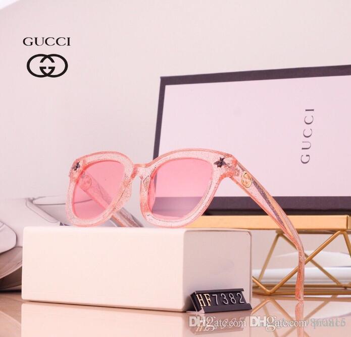 2020 Luxe Fashion Designers Grand Métal Lunettes de soleil pour hommes, femmes verre Objectifs Protection UV Lunettes de soleil E4