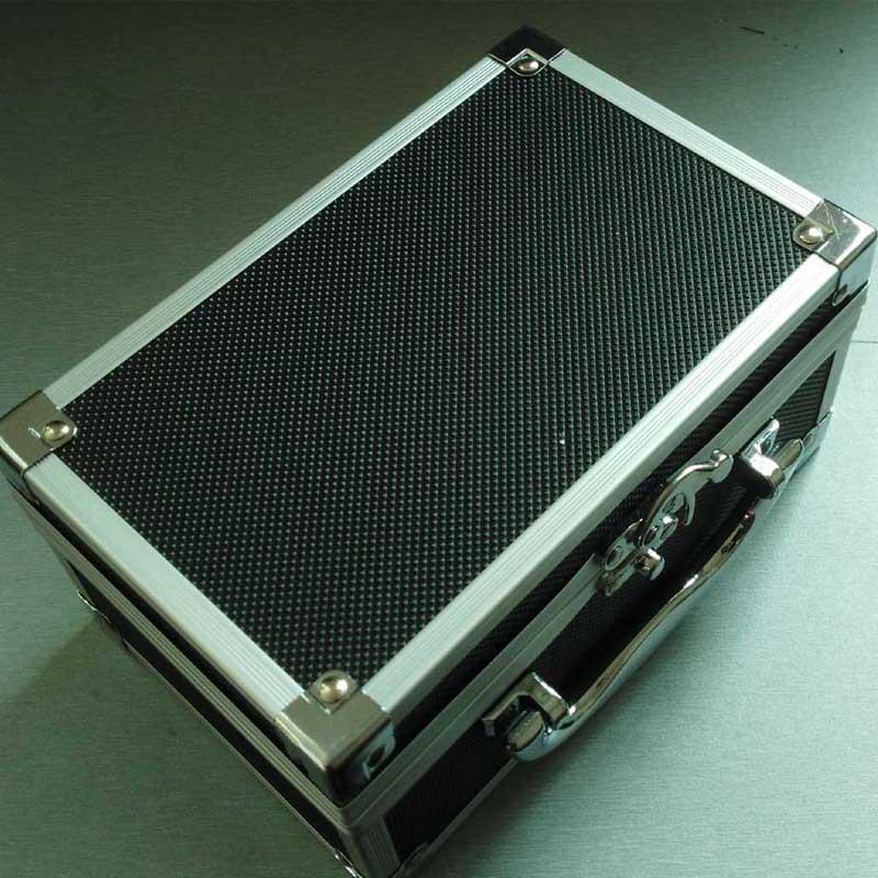 Estuche de aluminio pequeño de la caja por el almacenamiento cosmético de la baratija de la joyería de la joyería