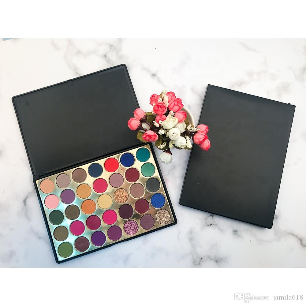 Pigmented 35 Color makeup eyeshadow palette no logo Make up palette Matte and shimmer eye shadow palettes Cosmetics eye makeup palette