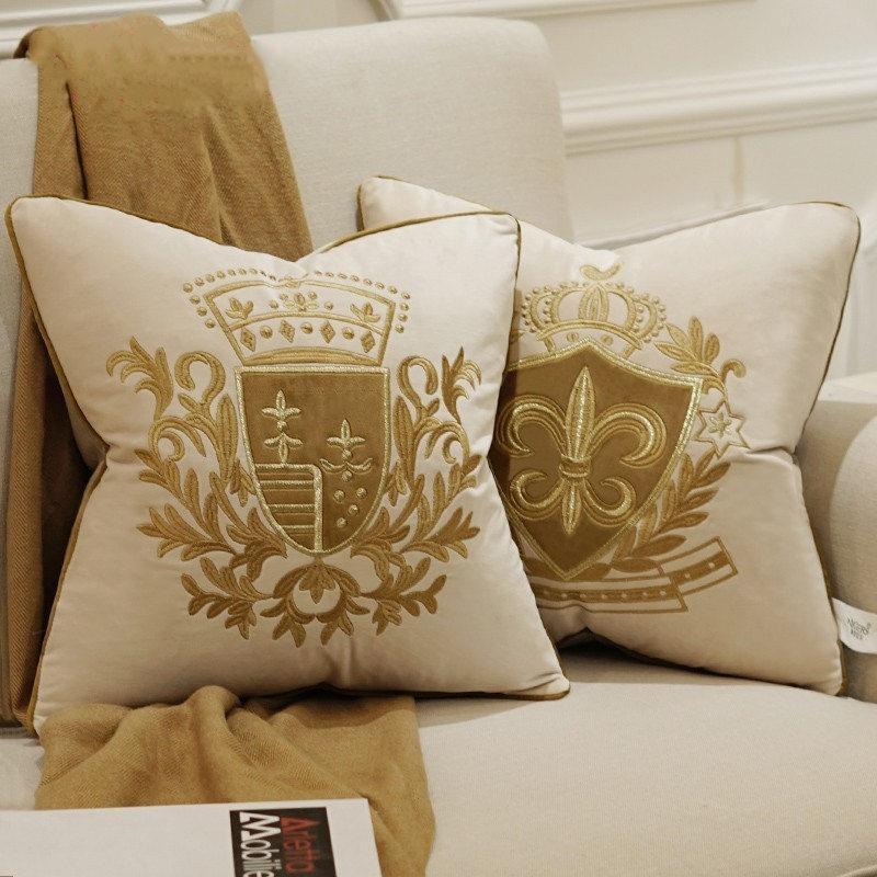 45 * 45 см вышивка бархат наволочка роскошный Европейский наволочка наволочка геометрия Главная декоративные диван стул бросить подушку