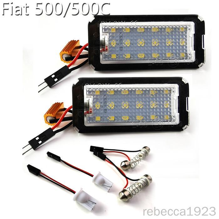 lampes plaque d'immatriculation de la voiture LED pour Fiat 500 / 500C Prix usine Led éclairage de la plaque 12V 6000K
