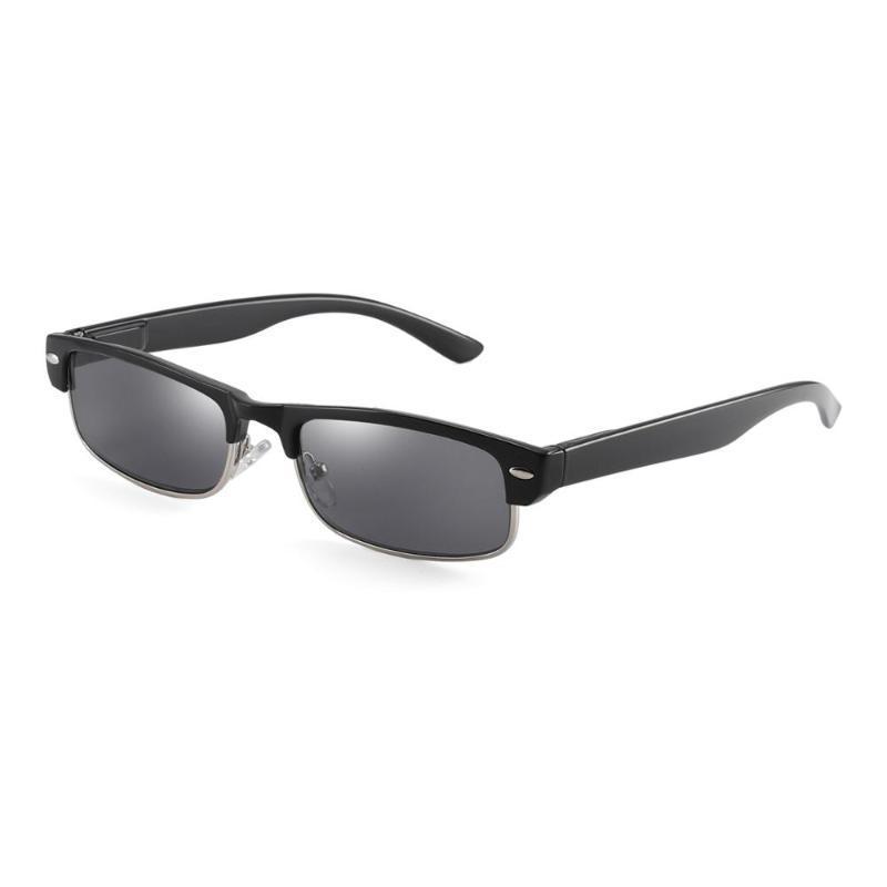 Gafas de sol sin montura semi lectores resorte de la bisagra de sol Gafas de lectura para mujeres de los hombres