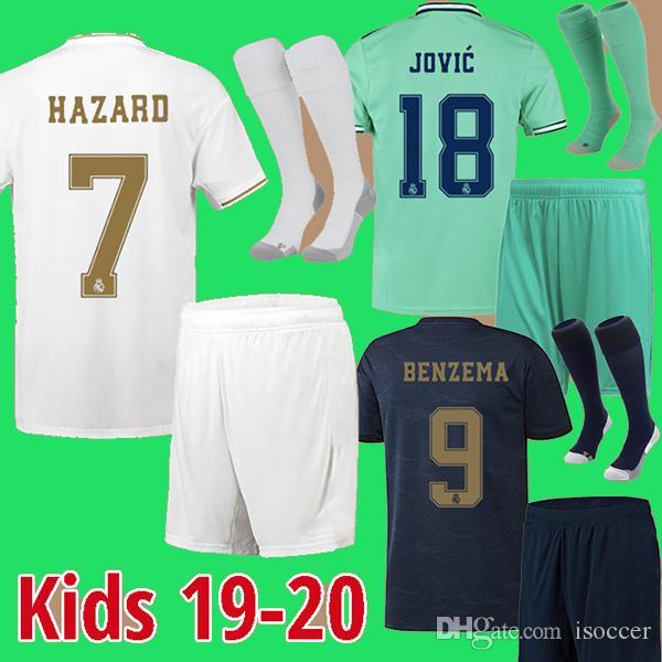 enfants maillots du Real Madrid 19 20 maillot de football JOVIC enfants DANGER maillot de football MODRIC Camiseta de futbol 2019 2020 CITP de pied MAILLOT