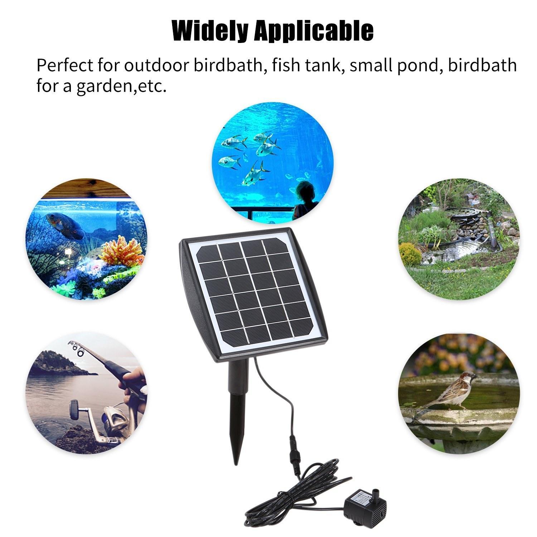 수족관 물고기 탱크 작은 연못에 birdbath 가든 파티오 잔디 풀 산소 펌프에 대한 태양 전지 패널과 태양 전원 분수 펌프 물 펌프