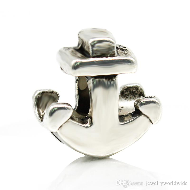 Anchor Alloy Charm Bead Big Hole Fashion Women Jewelry European Style For Pandora Bracelet Necklace New Arrival