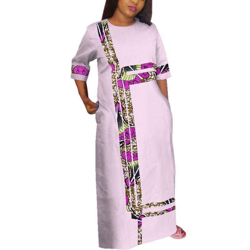 Африканский стиль Анкара платья для женщин кружева печати сращивания платье партии Dashiki плюс размер традиционный африканский Dresse WY3815