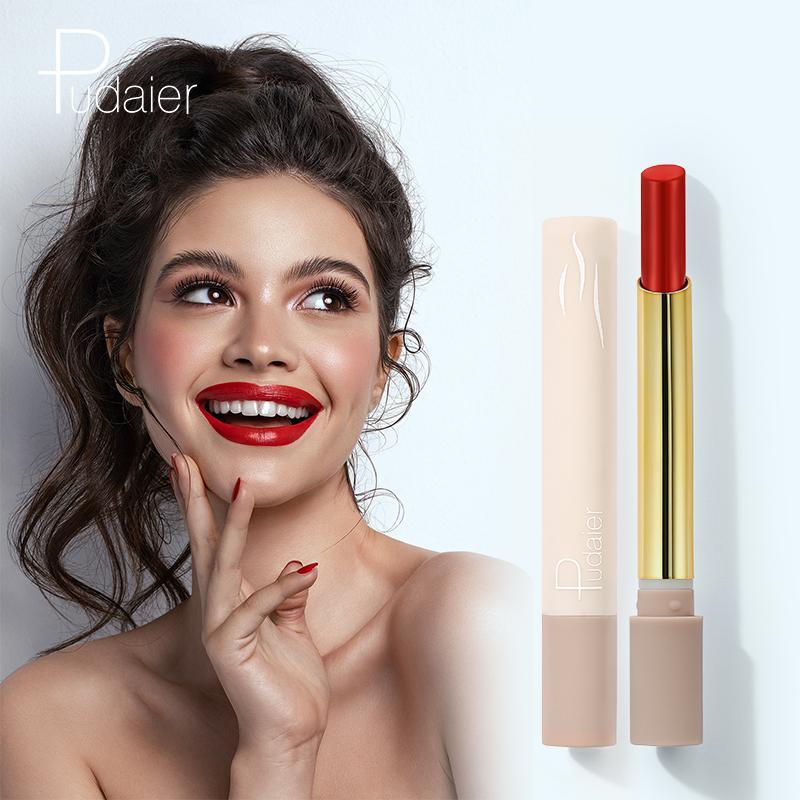 Yeni 16 renk mat ruj su geçirmez uzun ömürlü dudak parlatıcısı kadife seksi çıplak yaratıcı duman tüp ruj dudak kozmetik kırmızı