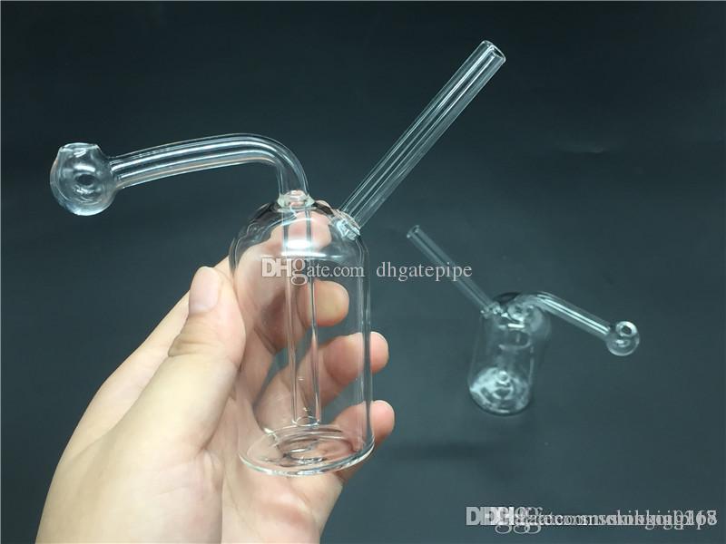 billigste Glas Ölbrenner bong Pyrex dicke Glasölbrennerrohr Glasrohre Sprudler mini Becher bong für Sprudelwasserleitungen bong dhl frei