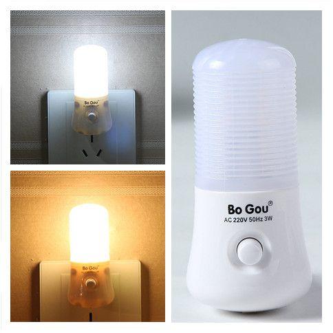Nueva 3W LED Interruptor productos creativos extraños de luz nocturna en el enchufe de regalo de luz nocturna se enciende lámparas chinas antiguas seguras interior del hogar de bajo consumo