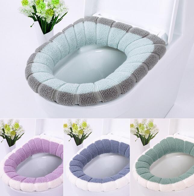 1000pcs asiento del inodoro cálido invierno suave cómoda climatizada lavable asiento del inodoro baño Mat Accesorios para la decoración casera Closestool