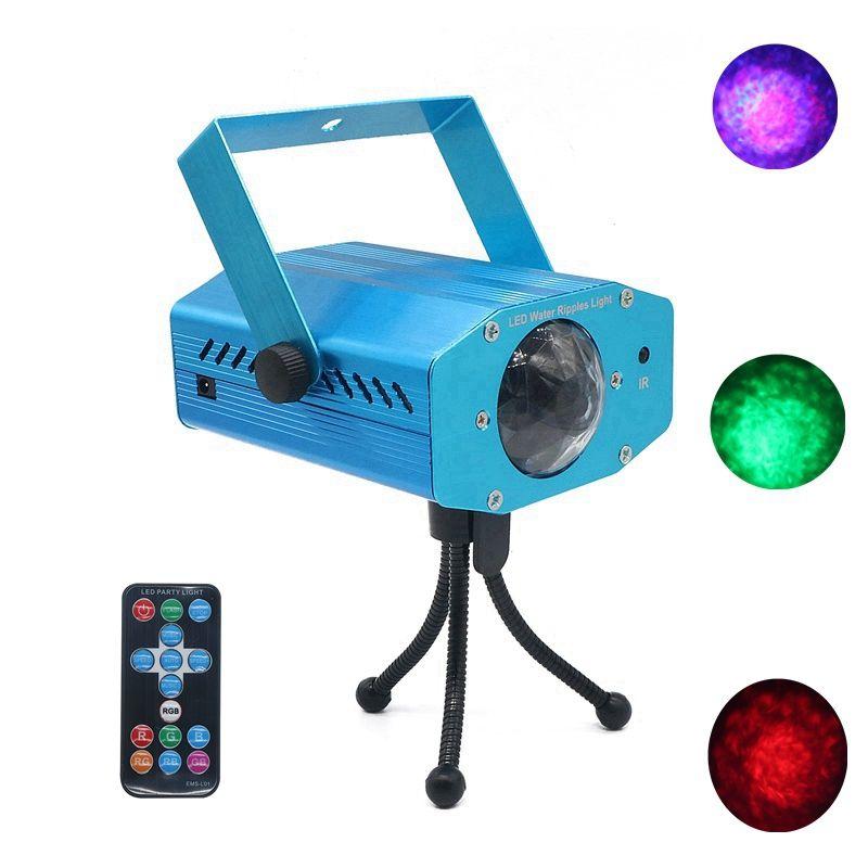 Edison2011 1 stücke 12W AC100-240V RGB Professionelle Bühnenlicht Wasserwelle Action Wellple Projektor für DJ Laser Party Show Unterhaltung