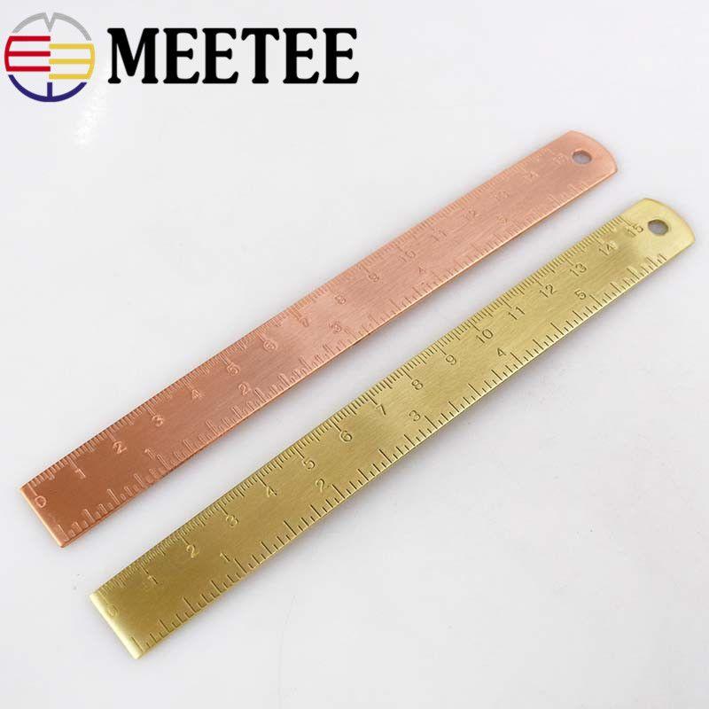 15cm Copper Ruler Diy Retro Mini Pure Brass Painting Small Bookmark thicker version of small copper ruler BD044