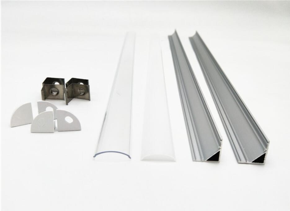 Libero 2.5m di trasporto / pc 100m alluminio / lotto d'angolo ha portato l'alloggio, il profilo in alluminio per lignt striscia principale ha condotto la barra luce di larghezza 12 millimetri