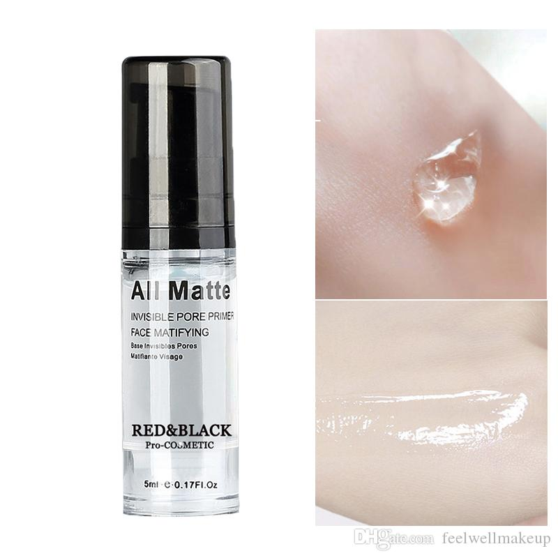 RedBlack Face Base Primer Maquillaje Líquido Mate Maquillaje Líneas finas Control de aceite Crema facial Brighten Foundation Primer Cosmetic 5ml