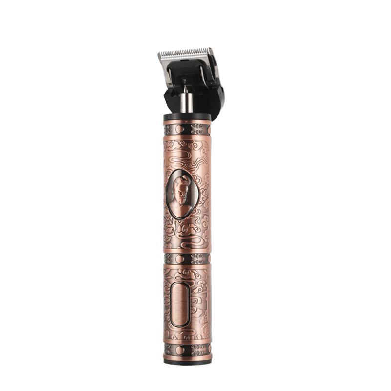 Nouveau Salon de coiffure sans fil 0mm T-lame Trimmer Machine Outliner chauve coupe USB électrique rechargeable cheveux Clippers 2000mAh