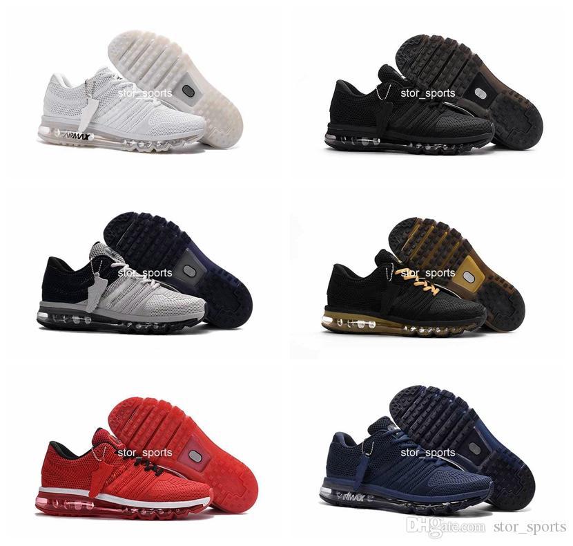 Alta calidad chaussures nike air max 2017 nueva llegada zapatos para hombre hombres sneaker maxes 2017 para hombre corriendo zapatos deportivos BENGAL naranja gris KPU tamaño 40-47