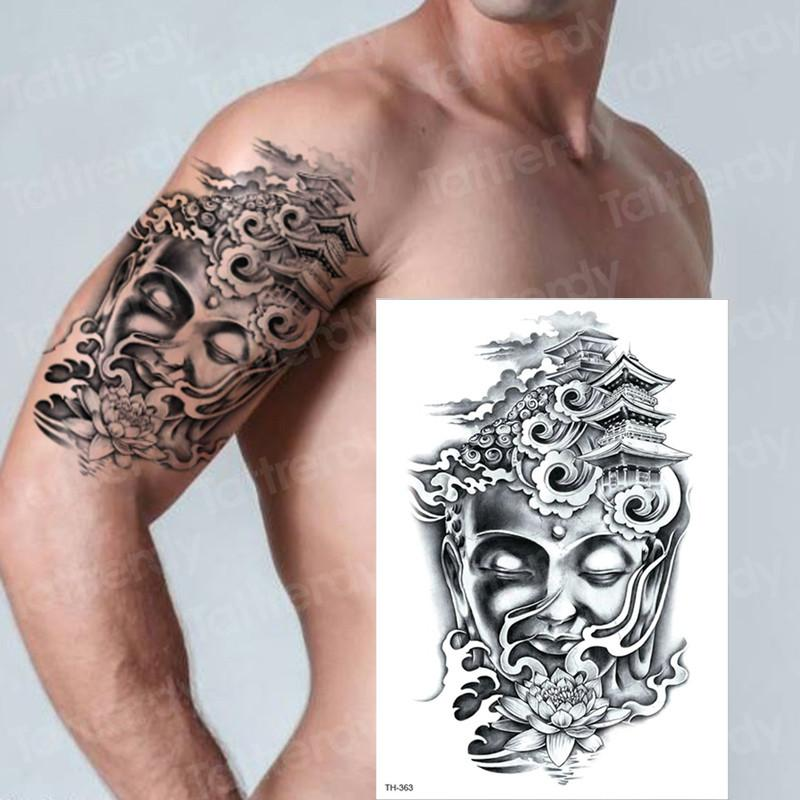 Wolf Temporary Tattoos For Men Women Transfer Tattoo Black Fake Tattoo Sleeve Arm Tatoo Big On Body Art Chest Tatto Boys Male Custom Tattoos Make Your