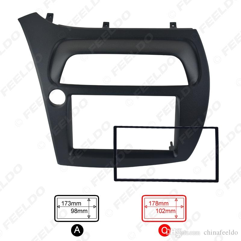 Radio CD / DVD de voiture stéréo fascia Cadre de panneau Adaptateur Kit de montage pour Honda CIVIC l'Europe 06 ~ 11 (LHD) # 2652