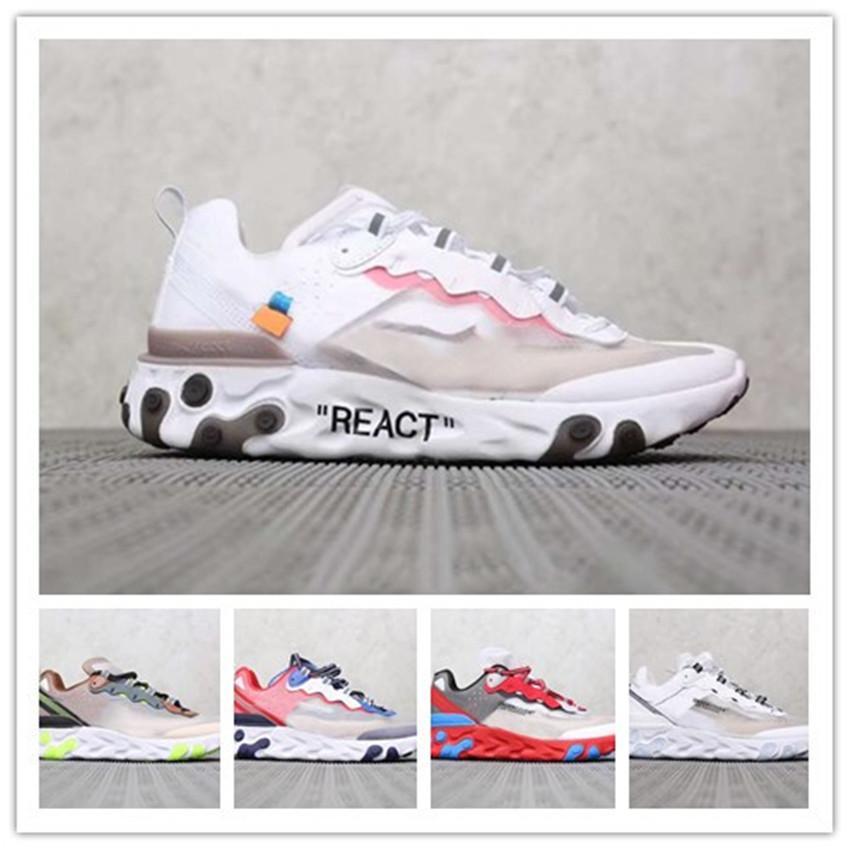 Ayakkabı Tasarımcısı 87s Koşu Spor ayakkabılar Spor Eğitmenler ayakkabı Nefes chaussure homme örgü thea Undercover erkekler kadınlar reaksiyona girer Eleman 87