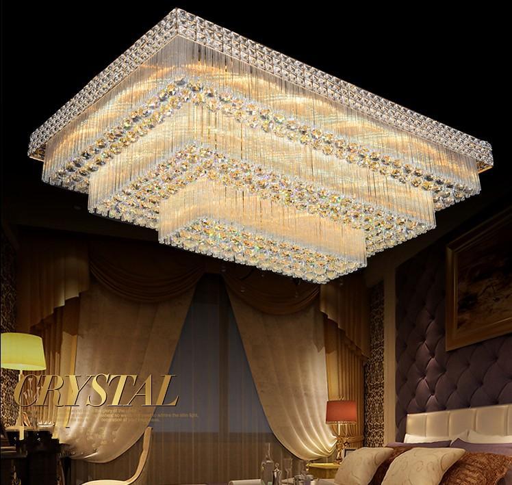 lustre prix usine luxe conduit noble magnifique villa haut escalier hall de l'hôtel de lustre en cristal final K9 a conduit Lustre LLFA