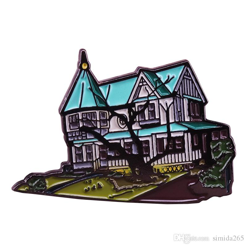 Klopek ev pin ağacı yard broş mimari estetik rozeti ev famiy yaşam hediye