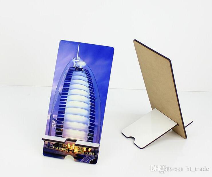 50 adet cep telefonu mdf süblimasyon DIY için tutucu standları özelleştirilmiş boş cep telefonu evrensel dikdörtgen iPhone Sumsung için ...