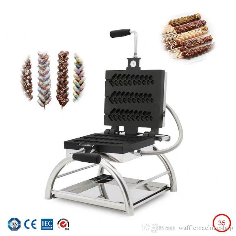 Yeni Ticari Buğday Şekli Waffle Makinesi Noel Ağacı Şekilli Waffle Fırın Waffle Stick Maker Cafe Shop Pasta Kek Snack Ekipmanları