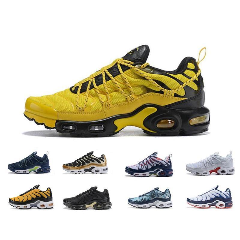 2020 zapatos corrientes de los hombres Plus Ultra Tn Mercurial SE Chaussures Triple Negro Blanco Azul Volt Hyper instructor para hombre de las zapatillas de deporte corredores