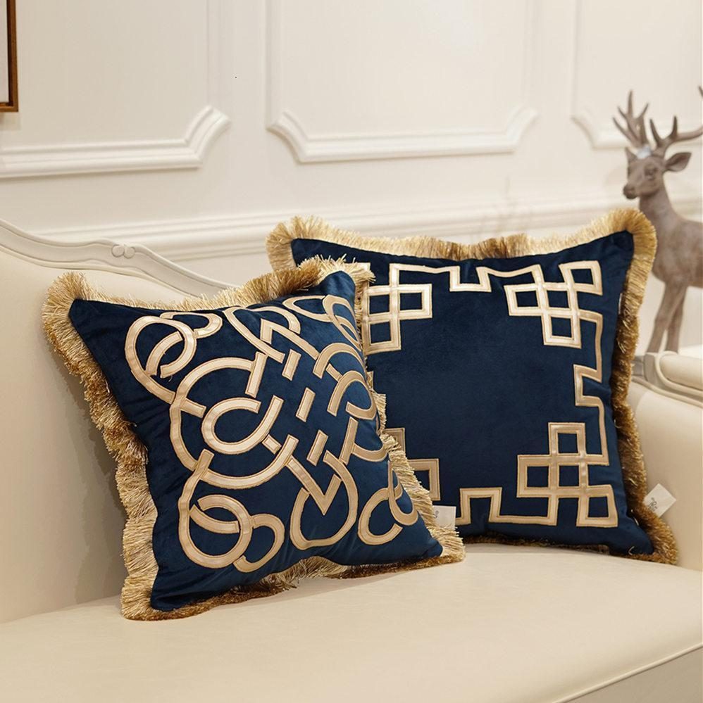 Blue And Brown Decorative Pillows  from www.dhresource.com