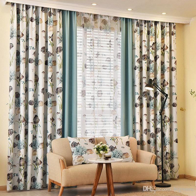 Fashion Curtains For Living Room Bedroom Cartoon Window Shade Screens Decoration