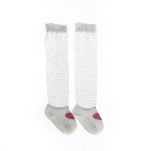 Girls White Anklet Sock with Embroidered Cross Applique and Lace