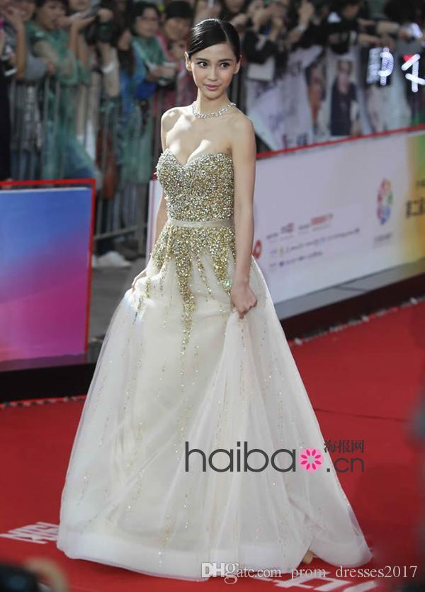 New Star With Ball Prom Dresses Golden Champagne Sequined Diamond Top Long Party Tuxedo Plus Size Prom Evening Dresses