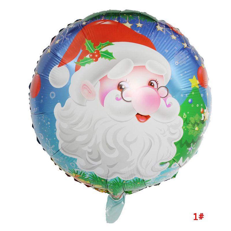 18inch Atacado folha de alumínio Balão redonda Balão de Hélio Xmas Papai Noel Boneco Imprimir festa de Natal Balões Decoração VT0984